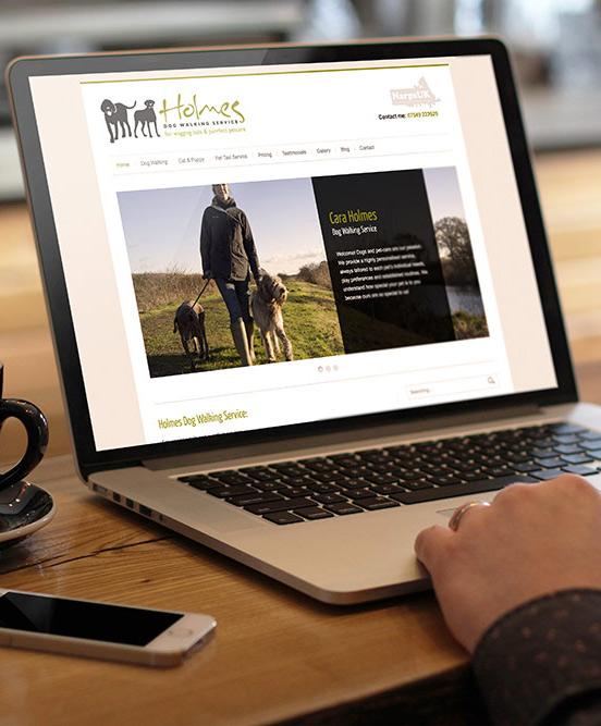 Logo Design + Website | Holmes Dog Walking