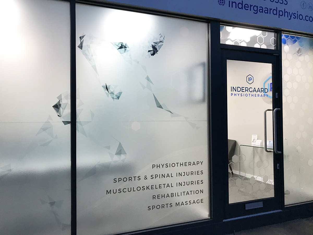 Shop Signage | Indergaard Physiotherapy
