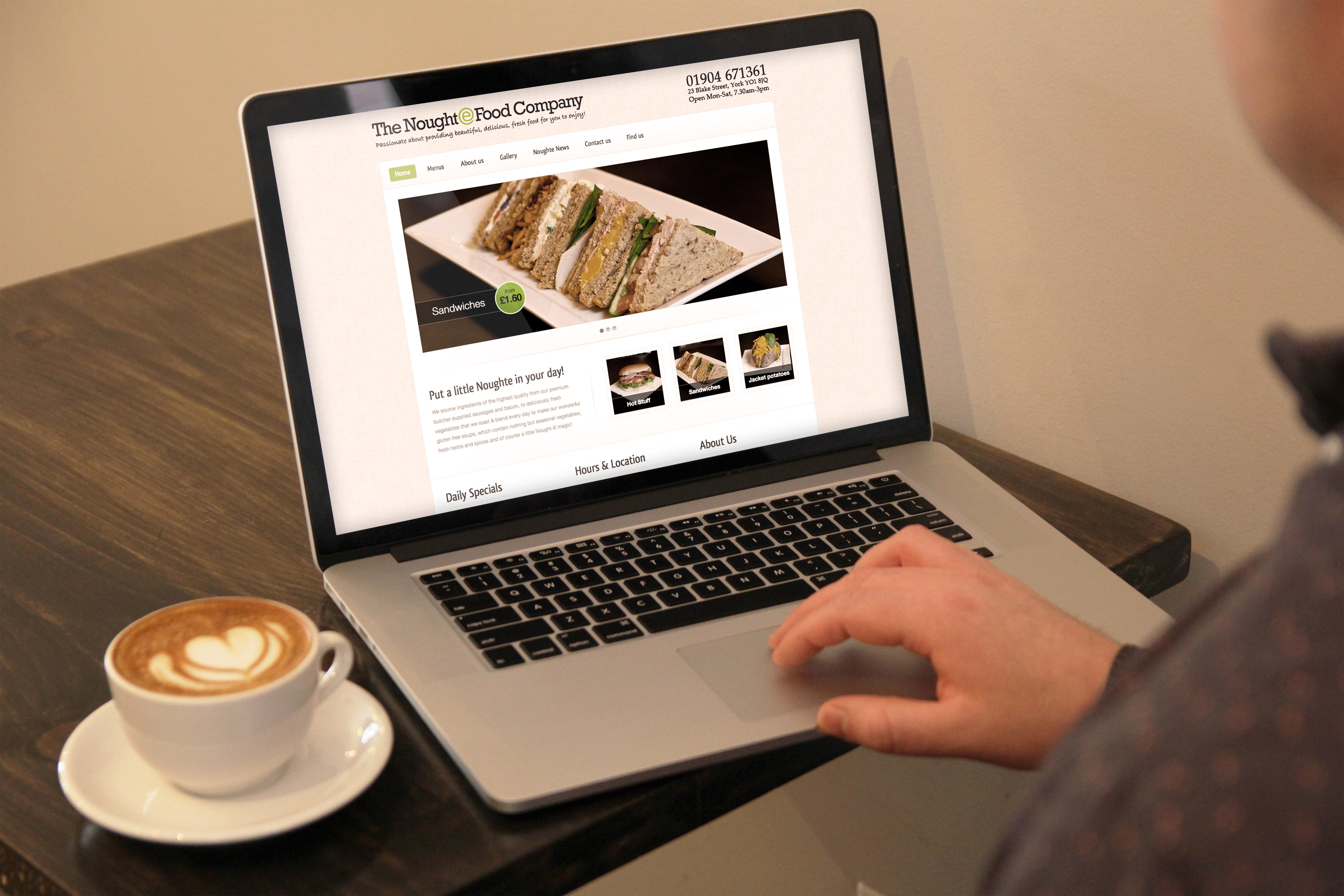Logo Design + Website Design | The Noughte Food Company