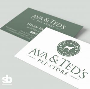 logo design for Ava and Teds Pet Store